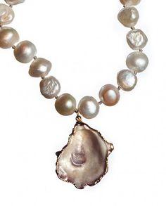 Seashell Jewelry, Seashell Necklace, Shell Necklaces, Sea Glass Jewelry, Diy Necklace, Stone Jewelry, Pearl Jewelry, Fashion Necklace, Beaded Jewelry
