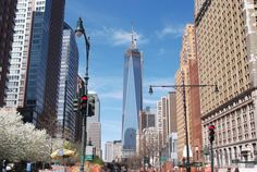 One World Trade Center, looking a lot more complete now. Taken 4/21/2013
