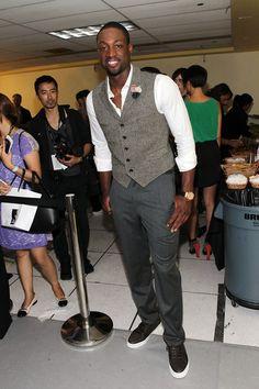 fashion week in this photo dwyane wade nba player dwyane wade poses