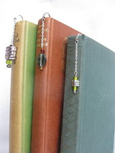 set of bookmarks bookmarks beaded bookmarks metal by Trudysbeads