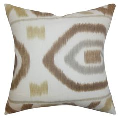 Rivka Rattan Feather Filled 18-inch Throw Pillow