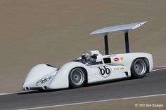 1966 Chapparal 2E. Designer-builder Jim Hall was a true innovator. Great example of American engineering. The 2E established the paradigm for virtually all racing cars built since. Vintage Can-Am racing