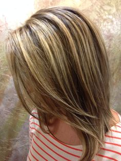 Brown hair. Lowlights. Highlights