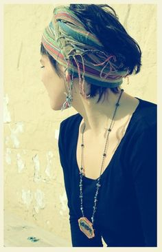 bandeau~ Put on a skull cap and wrap your scarf...I always get compliment's when I do this...