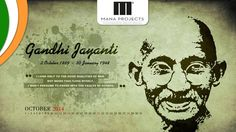 """You must not lose faith in humanity. Humanity is an ocean; if a few drops of the ocean are dirty, the ocean does not become dirty.""   Wish You Happy Gandhi Jayanti By - Mana Projects"
