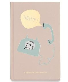Keep contacts with your beaus, besties and big dates in this fun address book from kate spade new york. Sure you could store them all in your phone, but a blue telephone that says hello! is much cuter, no? Size: x Address Books, Handbag Accessories, Books Online, Besties, Kate Spade, News, Cute, York, Telephone