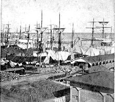 historic photo of charleston harbor 1866-1900