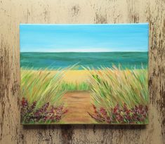 "Beach painting Ocean painting Seascape painting Beach house decor Affordable art Free shipping US ""Peaceful way"" Seascape Paintings, Your Paintings, Watercolor Paintings, Original Paintings, Watercolor Cards, Watercolor Flowers, Beginner Painting, Affordable Art, Beach House Decor"