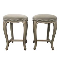 French Painted Upholstered Stools | From a unique collection of antique and modern stools at https://www.1stdibs.com/furniture/seating/stools/