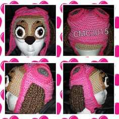 Aviator Puppy Hat - Paw Patrol Crochet pattern