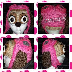 Aviator Puppy Hat - Paw Patrol Crochet pattern