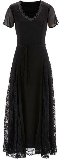 romantic maxi dress with lace & chiffon <3