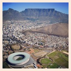 A beautiful aerial view of Cape Town