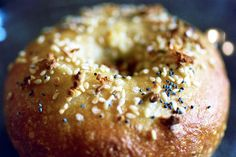 Yum! These bagels take 2 days to make using a sponge. everything bagel by smitten, via Flickr
