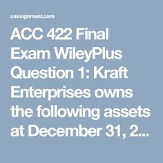 acc 422 final exam Acc 422 final exam - perfect solution acc 422 week 5 final exam 1) which of the following is n.