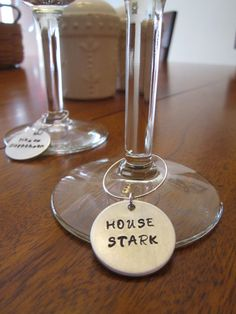 Game of Thrones set of 6 house wine charms gift by StampandShine, $20.99