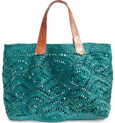 Tulum Tote, Main, color, Aqua - Bags and Purses 👜 Crochet Tote, Crochet Handbags, Crochet Purses, Bead Crochet, Tote Purse, Tote Handbags, Tulum, Earthy Style, Diy Bags