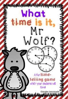 This What time is it Mr.Wolf? game allows your students to practice reading their analogue times for the o'lcock, half past, quarter past and quarter to times while having ALOT of fun!I've been playing this game with my second graders for three years now and they've ben LOVING it, so I thought I would share it with you all!All instructions and materials needed.