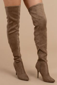 dd394103ef New Arrivals, Taupe, Made For Walking Faux Suede Thigh High Boots, Tobi Tall