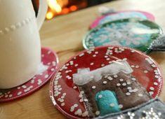 HOW TO MAKE GINGERBREAD HOUSE SNOW GLOBE COASTERS  FacebookPinterestGoogleTwitter Jenelle Montilone