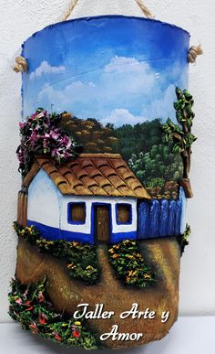 Clay Wall Art, Clay Art, Rock Crafts, Arts And Crafts, Diy And Crafts, Tile Crafts, Clay Crafts, Bottle Painting, Bottle Art