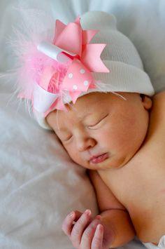 Newborn hospital hat  newborn girl bay girl or newborn boy baby boy. 523c2f56ea8