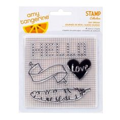 Amy Tangerine / American Crafts - Stitched - Clear Stamp Set
