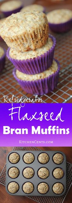 These high fiber flaxseed bran muffins are a healthier choice that alsotastes delicious. They're sweet, moist and will keep you full all morning long.