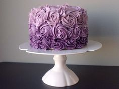 Purple ombre smash cake Love the OMBRE, but not sure if I prefer Cupcake or square