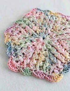Pastel Hotpad or Coaster: free crochet pattern