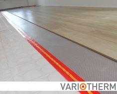 Lage opbouw vloerverwarming met noppenplaat. Afgewerkt met laminaat, hout, gietvloer of steen