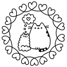 pusheen coloring book pusheen pusheen the cat tiener
