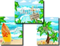 Surf Shack Kids DOOR SIGN Personalized Name by LittleMonkeyDoodles, $14.00