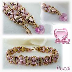 Bracelet Camille avec les Nouvelles Khéops®par Puca® California Pink