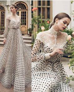 Modest Dresses, Elegant Dresses, Beautiful Dresses, Nice Dresses, Prom Dresses, Polka Dot Evening Dresses, Long Sleeve Evening Dresses, Evening Gowns, Queen Dress