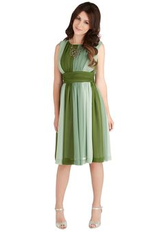 Evolution of Elegance Dress in Green | Mod Retro Vintage Dresses | ModCloth.com
