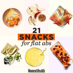 Hate the name of this article, because yeah, these are just healthy snacks for your whole body. If you want abs, go workout ;) | Women's Health Magazine