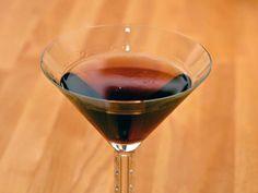 The Brooklyn Cocktail (variant: 3 oz. Rye, .75 oz. Dry Vermouth, .5 oz. Averna Amaro, .25 oz. Luxardo Maraschino, Ango Bitters  Stir over ice, strain, serve down, mist and garnish with orange peel