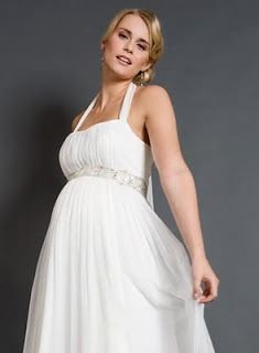 This empire dress gives plenty of room for a growing tummy and bust