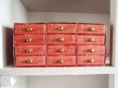 Vintage Jeweler's 12 Drawer Cardboard Parts by vintagealkemie
