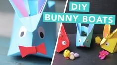 DIY Paper Bunny Boats. Perfect For Easter.