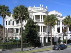 An historic home on Rainbow Row in Charleston, South Carolina