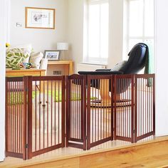 PETSJOY 36''H Pet Dog Gate Fence * (paid link) Click image to review more details. Tall Dog Gates, Dog Gate With Door, Magnetic Screen Door, Tallest Dog, Huge Dogs, Wood Dog, Pet Gate, Pet Dogs, Pets