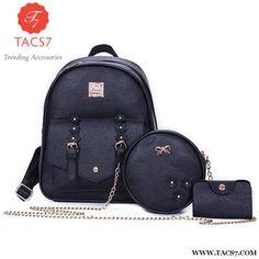Fashion Flowers Backpack Women Bag 3 Pcs. Batohy cdbb6832c1e
