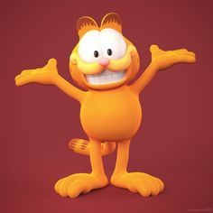 Garfield 3D model for a realtime application (this is the high-poly version), licensed from and approved by Garfield's creator (an honor).  • http://metinseven.com  #garfield #3d #3dmodel #cartoon #cartoony #3dmodeling #character #illustration #3dconversion #sculpting #zbrush #keyshot