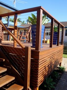 Deck Skirting Ideas - Search photos of Deck Skirting. Find suggestions and ideas for Deck Skirting to add to your personal house. Deck Stairs, Deck Railings, Deck Balustrade Ideas, Decking Fence, Outdoor Stair Railing, Railing Ideas, Cool Deck, Diy Deck, Deck Skirting