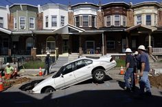 """Sink hole, earthquake... """"someone's going to be late for work""""."""