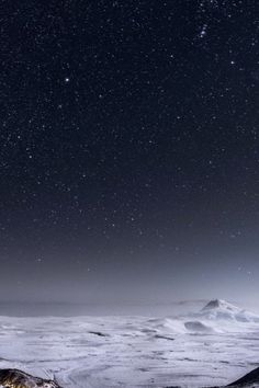 Night Stars Mountain Range Winter Landscape iPhone 6 Plus HD Wallpaper