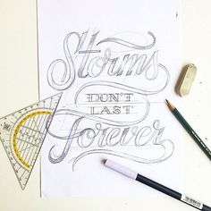 beautiful lettering by Tim Bontan Calligraphy Quotes Doodles, Hand Lettering Quotes, Hand Drawn Lettering, Types Of Lettering, Calligraphy Art, Lettering Design, Handwritten Quotes, Typography Sketch, Typography Love