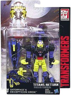 Hasbro Transformers: Titans Return Deluxe – Gatorface & Decepticon Krok - Transformers, Titans Return